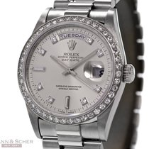 Rolex Day-Date Ref.-18346 Platinum Diamond Bezel and Dial