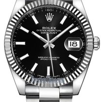 Rolex Datejust 41mm Stainless Steel 126334 Black Index Oyster