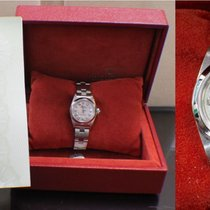 Rolex Ladies Datejust 67180 Mother Of Pearl Diamond Dial Steel