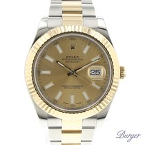Rolex Datejust II Gold/Steel Rolesor Champagne