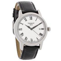 Tissot Carson Mens Black Leather Swiss Quartz Watch T085.410.1...