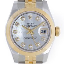 Rolex Ladies Datejust 2-Tone Steel Gold Watch Mother of Pearl...