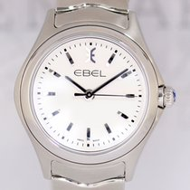 Ebel Wave Lady white Dial Seel 30mm Klassiker NEU B+P