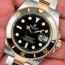 Rolex Submariner 116613 Mens Steel & Yellow Gold Black...