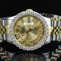 Rolex Datejust 2 Tone 18k Gold 36MM Stainless Steel Jubilee...