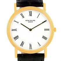 Patek Philippe Calatrava 18k Yellow Gold Watch 3520 Box Papers