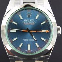 Rolex Milgauss Steel Blue Dial 40MM, Full Set 116400GV