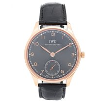 IWC Portuguese Rose Gold Hand Wound Men's Watch