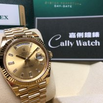 Rolex Cally - Day-Date 40mm 228238 Champagn Diamind 香檳金鑽石字