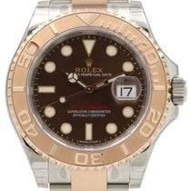 Rolex Yacht-Master 40 116621 Chocolate Rose Gold Stainless...
