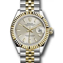 롤렉스 (Rolex) Datejust 28 279173 Silver Index Fluted Bezel...