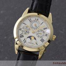 Omega 18k Gold Louis Brandt Kalender Mondphase Automatik...