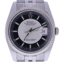 Rolex Oyster Perpetual Datejust 36 Mm Silver Dial Ss Jubilee...