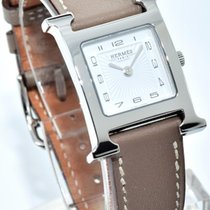 Hermès H-Hour Watch HH1.210 Taupe Smooth Calfskin Leather Strap