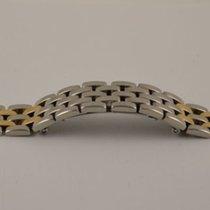 Cartier Panthere  Stahl/gold Armband Bracelet 12mm 2 Goldstreifen