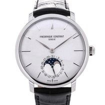 Frederique Constant Slim Line 42 Moon Phase Silver Dial