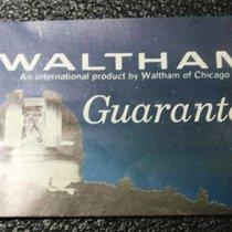 Waltham vintage warranty booklet 1972