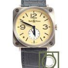 Bell & Ross BR S White Gold Ivory dial Crocodile strap NEW