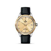 Tudor STYLE Champagne Dial Automatic Date Gold 12313
