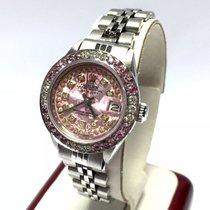 ロレックス (Rolex) Oyster Perpetual Ss Ladies Watch Pink Flower...