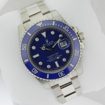 Rolex 116619 Submariner White Gold Blue Diamond Dial