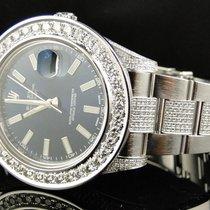 Rolex Custom Mens New 41 MM Blue Rolex Date Just II 2 With...