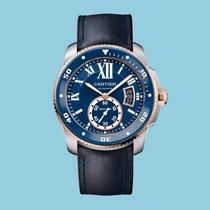 Cartier Calibre de Cartier Diver, Blau, Stahl & Rotgold