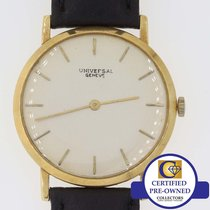 Universal Genève Solid 18k Yellow Gold Thin Automatic 32mm...