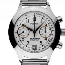 Poljot Chronograph Stahl Automatik Armband Stahl 38mm Vintage...