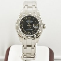 Rolex 29mm Pearlmaster 80319  Black Dial Box & Papers
