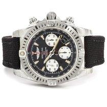 Breitling Chronomat 41 Airborne Black Dial Textile Strap NEW