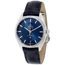 Omega Constellation Globemaster Leather Strap Mens Watch...