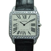 Cartier Santos 18k White Gold White Manual Wind WH100651