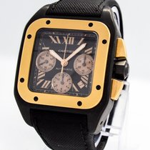 "Cartier ""Santos 100 XL Carbon Chronograph"" Watch..."