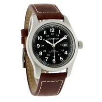Hamilton Khaki Field Mens Brown Strap Swiss Automatic Watch...