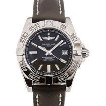 Breitling Galactic 32 Chronometer Black Leather Strap