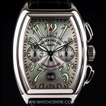 Franck Muller 18k White Gold Conquistador Chrono Gents B&P...
