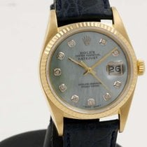 Rolex DateJust - Yellow Gold - Blue MOP and Diamonds Dial - On...