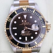 Rolex Submariner Two Tone Gold Stainless Steel Black On Black...