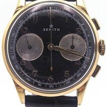 Zenith Vintage Zenith 18k Yellow Gold Chronograph Black Dial...