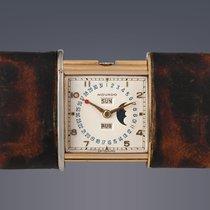 Movado Ermeto gold plated manual complication Clock
