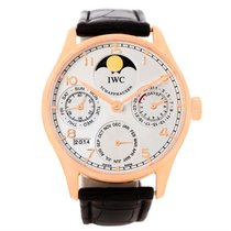 IWC Portuguese Perpetual Calendar Rose Gold Watch Iw502213 Box...