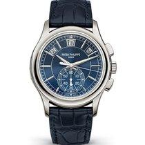Patek Philippe 5905P Blue PT950 Annual Calendar Chronograph