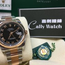 Rolex Cally - 36MM 116201 Datejust Rose gold & Steel Black...