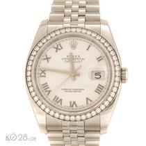 Rolex 16244 Steel Diamond White Roman Dial Papers 2011 LC100