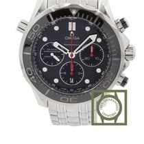 Omega Seamaster Diver 300m black dial steel chronograph