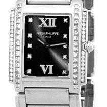 "Patek Philippe Lady's 18K White Gold  Diamond ""Twenty-..."