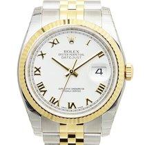 勞力士 (Rolex) Datejust Gold And Steel White Automatic 116233WTRN