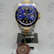 Rolex Submariner Date Steel and Gold Blue BOX+PAPERS