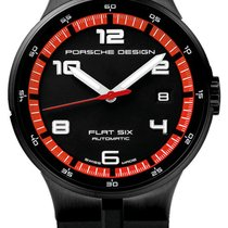 Porsche Design Flat Six Automatic Black PVD Steel Mens Watch...